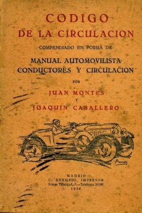 1934 CÓDIGO DE LA CIRCULACIÓN