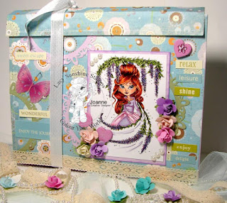 Wistera Bloomin Treasures colouring storage folder