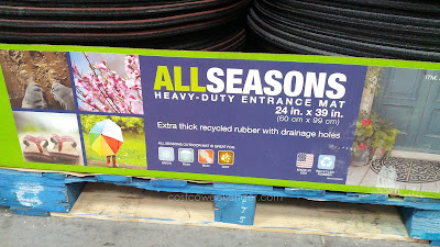 Apache Mills All Seasons Heavy-Duty Entrance Mat helps prevent dirt from getting in