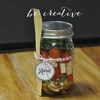 salad in a jar recipe on Creative Bag's blog