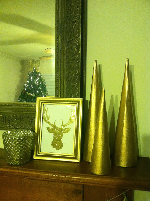 Glitzy Holiday Mantel on Darling Cashmere