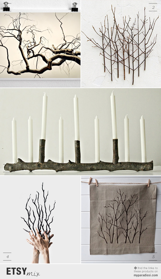 Handmade decorative items inspired by twigs and branches via #etsy