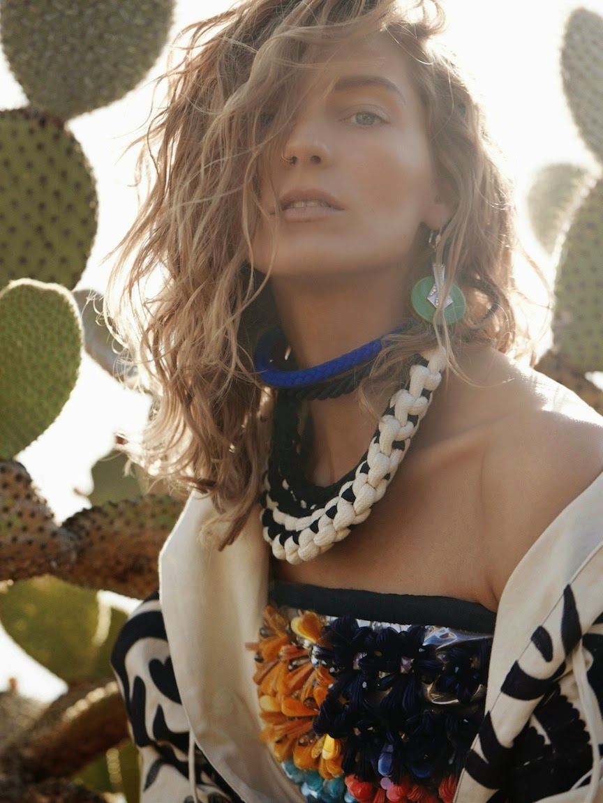 Daria Werbowy by Mario Testino Vogue UK March 2014