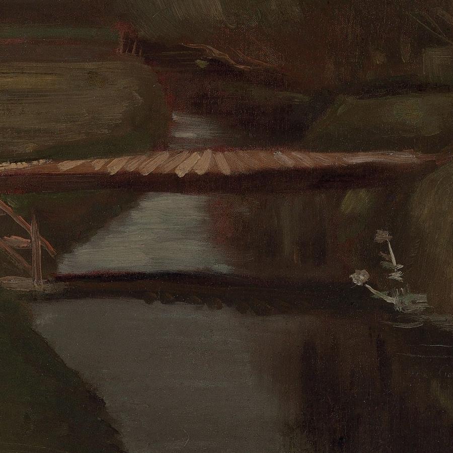 Footbridge Across a Ditch by Vincent van Gogh Detail of Bridge