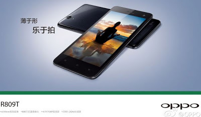 Oppo R809T, Hp Android Slim QuadCore Layar HD