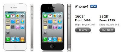 Unlocked Apple iPhone 4 Price