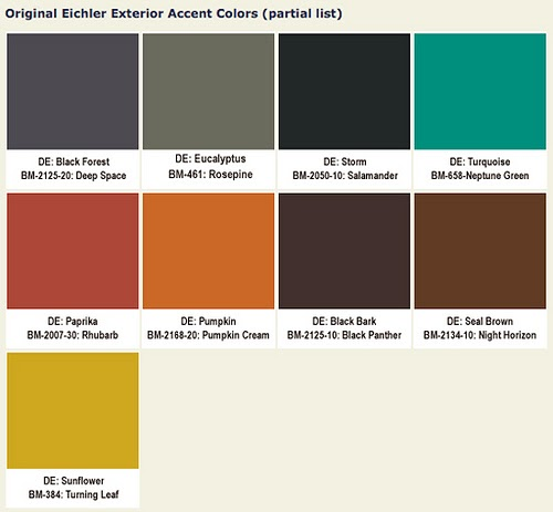 Bmw 18: Mad For Mid-Century: Eichler Mid-Century Exterior Paint Colors