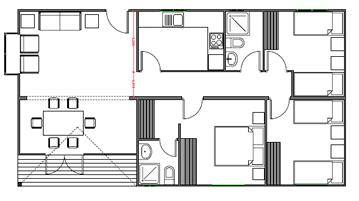 Casas de los 80 for Planos de casas 80 mts2