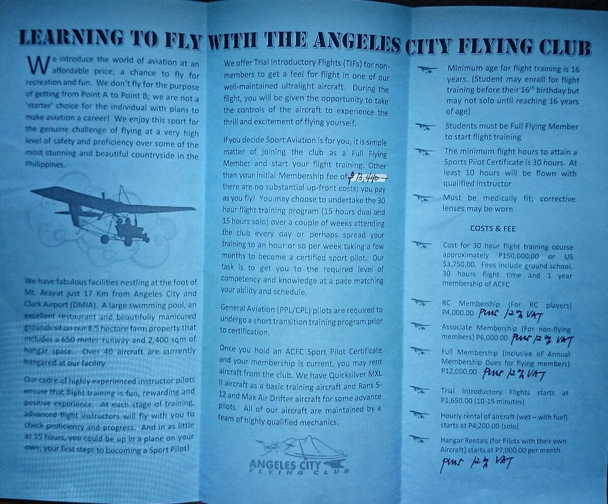 The Budget Traveller Philippines Learn To Fly Angeles City