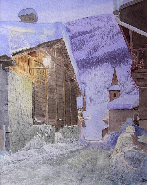 aquarelle neige