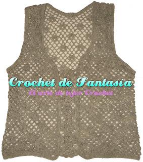 Blusa, Gris, Chaleco, Crochet, Ganchillo, Hilo
