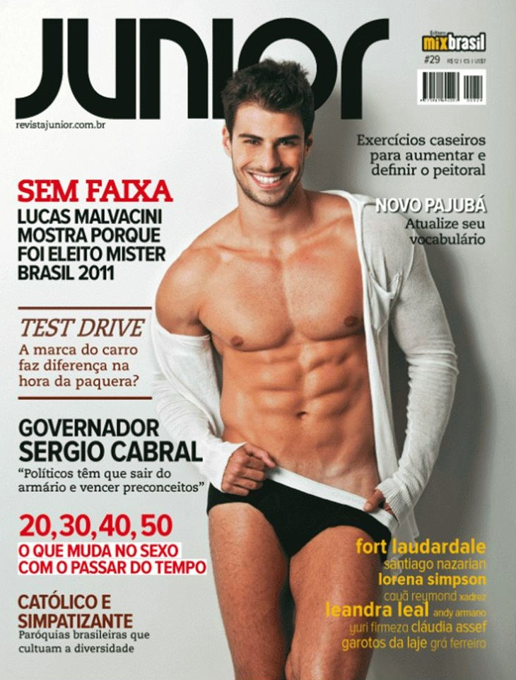 Mister Brasil Capa Revista Junior Noticia