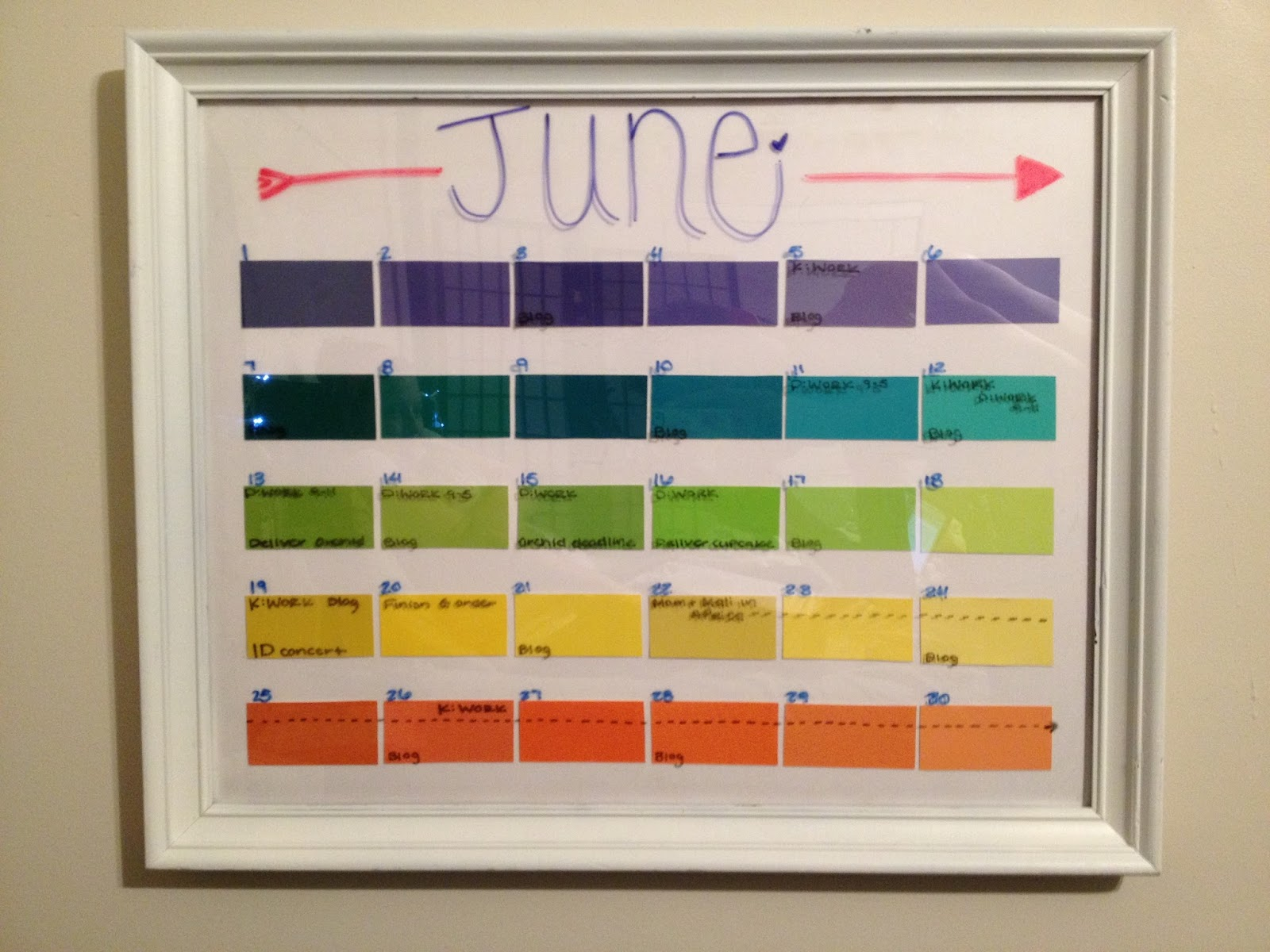 Diy Paint Strip Calendar : That one couple young thrifty fun and awesome diy