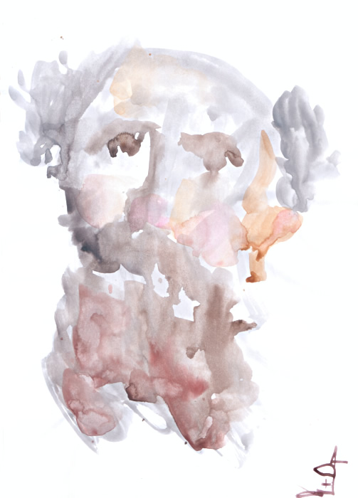 Old man #5 watercolor by Gregory Avoyan