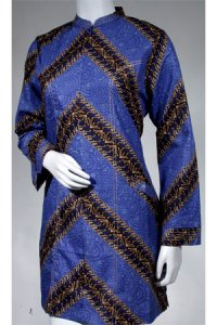 Batik Kasato 502 - Biru [ XL ] (Toko Jilbab dan Busana Muslimah Terbaru)