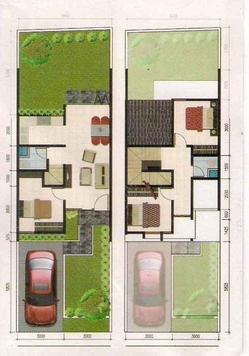 rumahku 1 desain denah rumah minimalis type 80 120