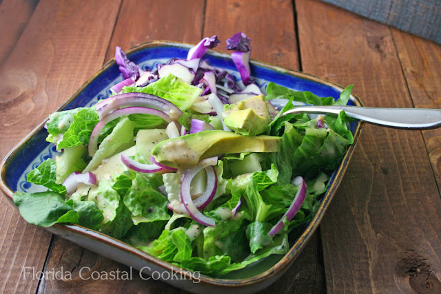 Purple Cabbage and Creamy  Avocado Salad