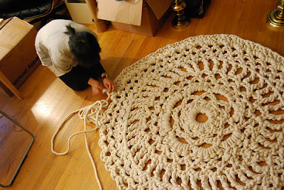 My Home For The Holidays: Doily Rug and Pinterest