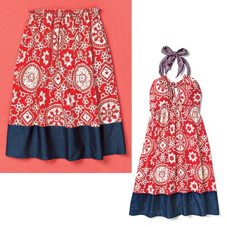 плажна рокля – пола с ластик