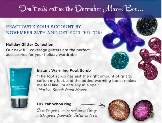 Julep Maven Boxes - December 2012 Sneak Peek!