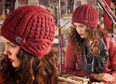 Örgü Kırmızı Şapka Modeli