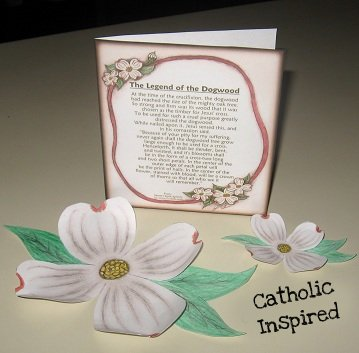 picture about Legend of the Dogwood Tree Printable named The Legend of the Dogwood Tree ~ Crafts and Playing cards - Catholic