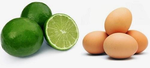 Đắp mặt nạ lòng trắng trứng và chanh