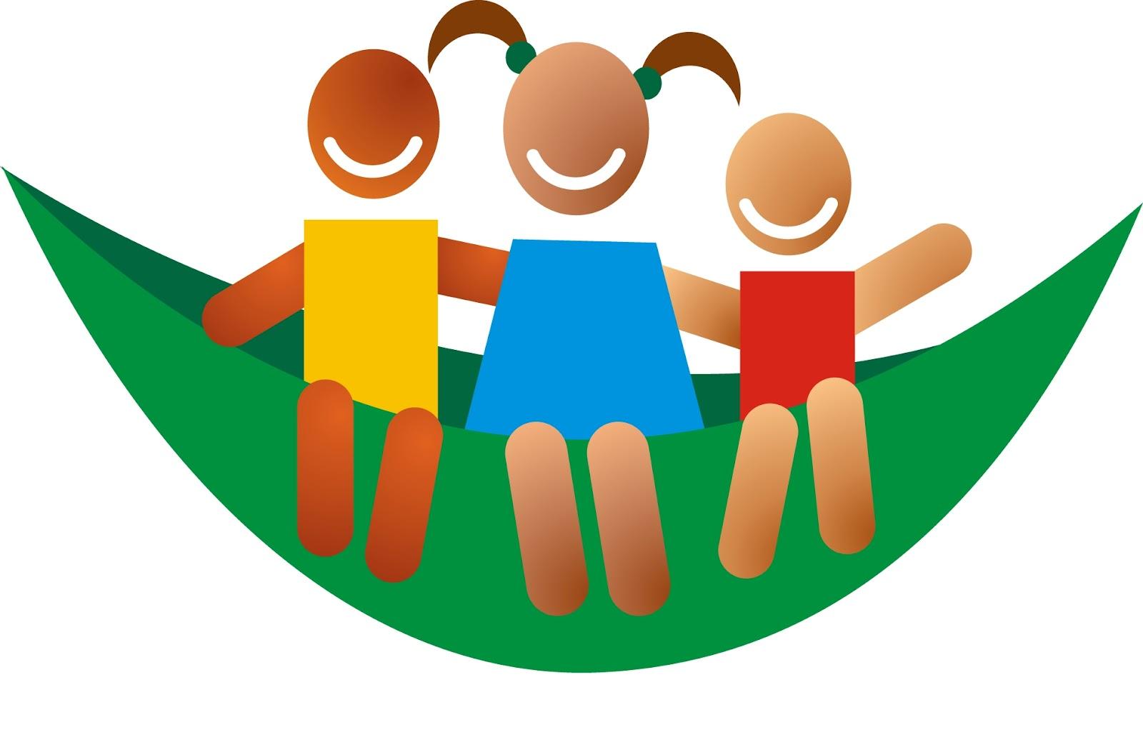 Símbolo da RNPI, uma rede com três crianças