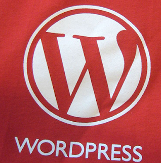 Wordpress Logo On Red Background