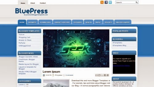 BluePress - Free Blogger Template