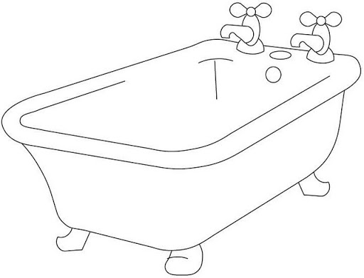 Imagenes De Baño En Tina:Tina para colorear ~ Dibujos para Colorear Infantil