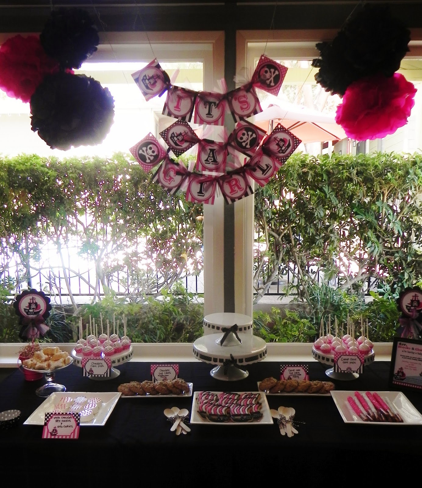Cravings By Wendy Pink Pirate Themed Baby Shower