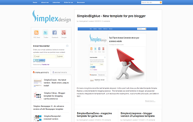 Simplex BigBlue Blogger Template