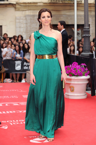 Vestidos de clausura color verde agua
