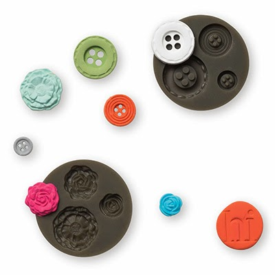Flower and Button Molds for Stampinup Polymer Simply Pressed Clay