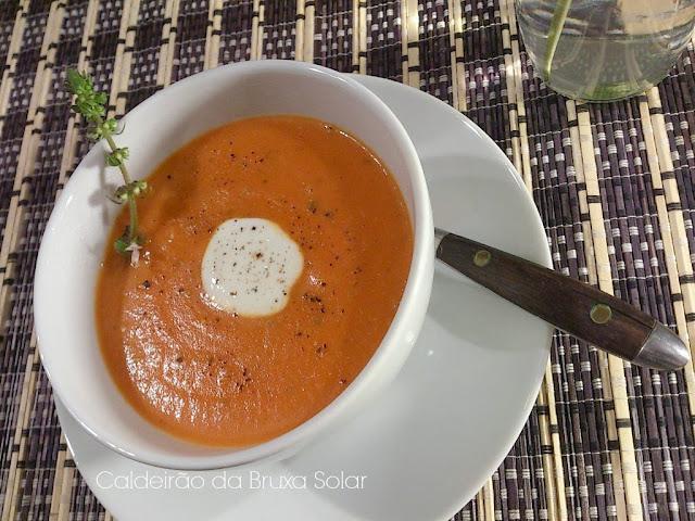 Sopa cremosa de tomates