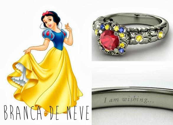 blog Mamãe de Salto aliança inspirada nas princesas da Disney Branca de Neve