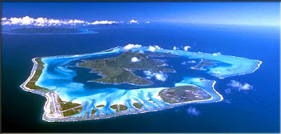 tour the famous, Bora Bora island, French