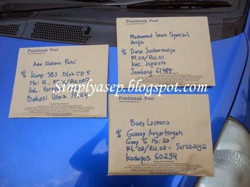 Sebelum diposkan ya di foto fulu kiriman suratnya.  Foto Asep Haryono