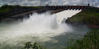 Water flow at major Brazilian power stations such as Itaipu could decline by more than 50%. (Image Credit: Herr stahlhoefer via Wikimedia Commons) Click to Enlarge.