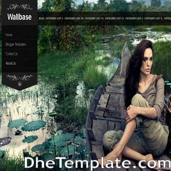 Wallbase blogger template.wordpress theme to blogspot template. photography blogger template for blogspot blog