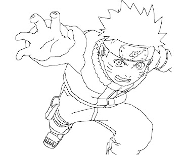 #9 Naruto Coloring Page