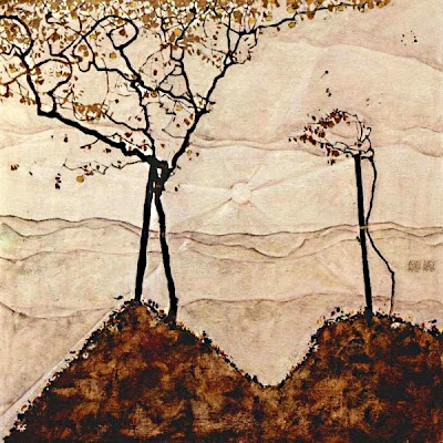 Sol de tardor i arbres (Egon Schiele)