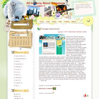 All to Know About Singapore Blogger Template. free download template blogspot