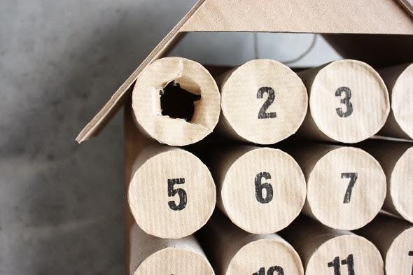Tat de nature diy de no l number 3 le calendrier de l 39 avent - Calendrier de l avent rouleau papier toilette ...