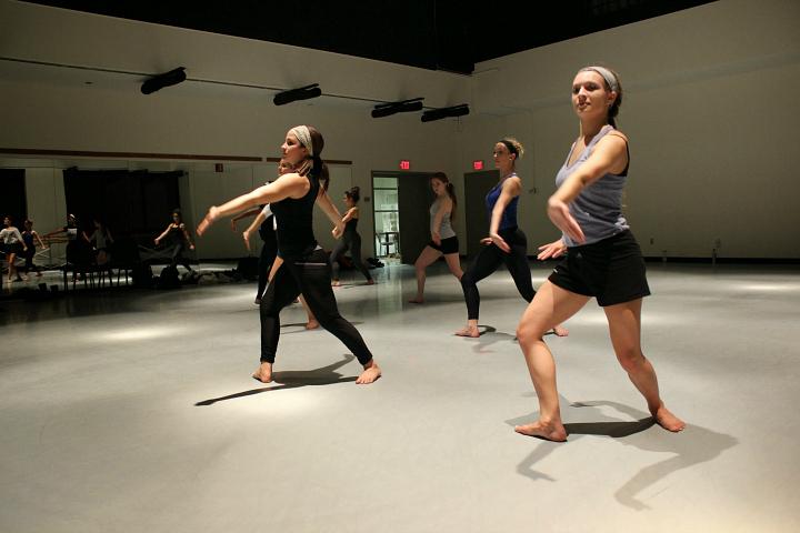 quaintrelle inside the dance studio