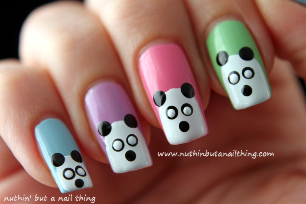 Nuthin but a nail thing panda nails tutorial panda nails tutorial nail art panda nails tutorial nail art prinsesfo Image collections