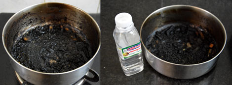 How To Remove Burnt Milk From Pot