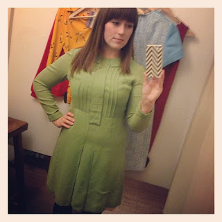 new green dress from calivintage pretty penny pop-up