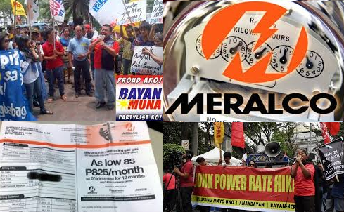 Bayan Muna Petitioned Against the P4.15 per kwh Increase of Meralco